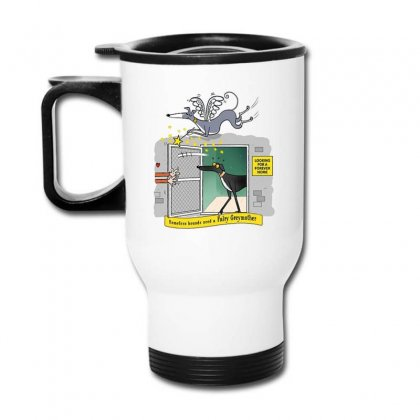 Greyhound Antlers Travel Mug Designed By Oktaviany
