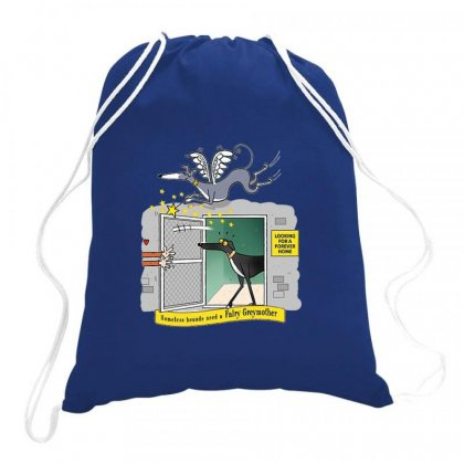 Greyhound Antlers Drawstring Bags Designed By Oktaviany