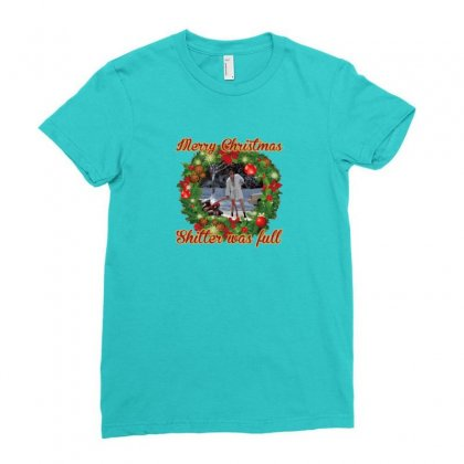 Merry Christmas Shitter Full Ladies Fitted T-shirt Designed By Oktaviany