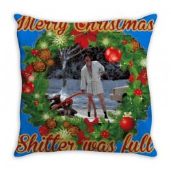 merry christmas shitter full Throw Pillow | Artistshot