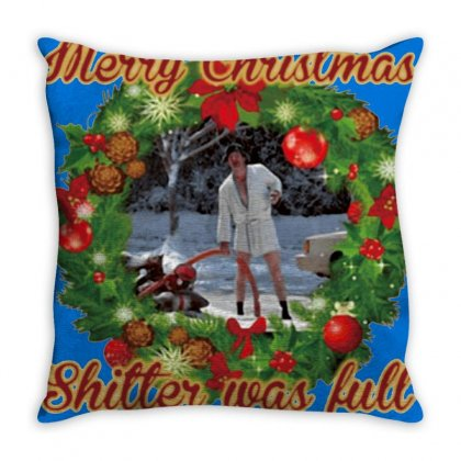 Merry Christmas Shitter Full Throw Pillow Designed By Oktaviany