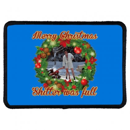 Merry Christmas Shitter Full Rectangle Patch Designed By Oktaviany