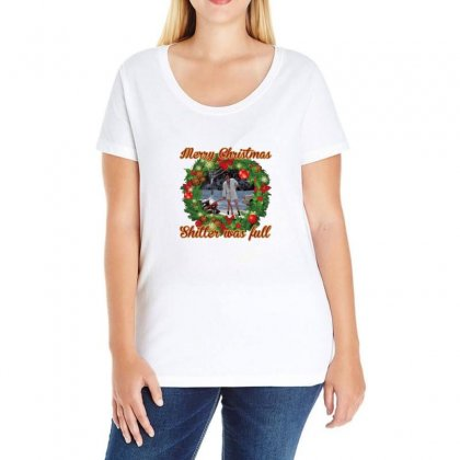 Merry Christmas Shitter Full Ladies Curvy T-shirt Designed By Oktaviany