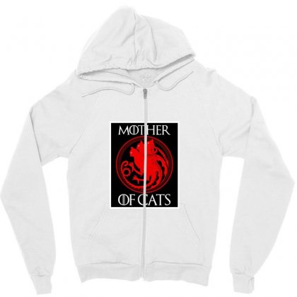 The Mother Cats Zipper Hoodie Designed By Oktaviany