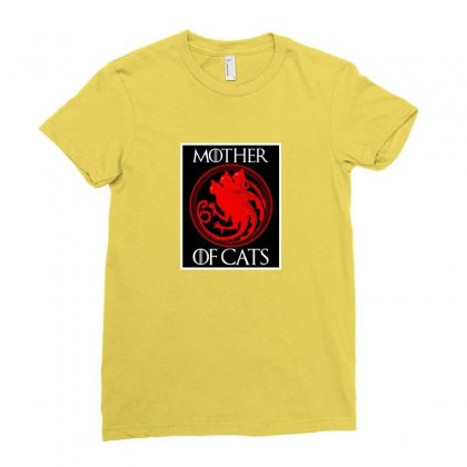 The Mother Cats Ladies Fitted T-shirt Designed By Oktaviany
