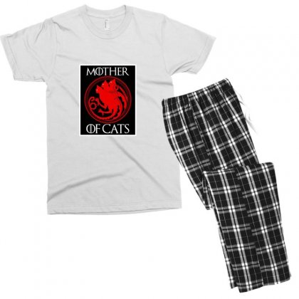 The Mother Cats Men's T-shirt Pajama Set Designed By Oktaviany