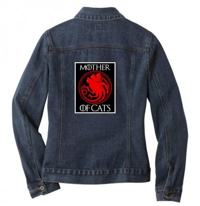 The Mother Cats Ladies Denim Jacket Designed By Oktaviany