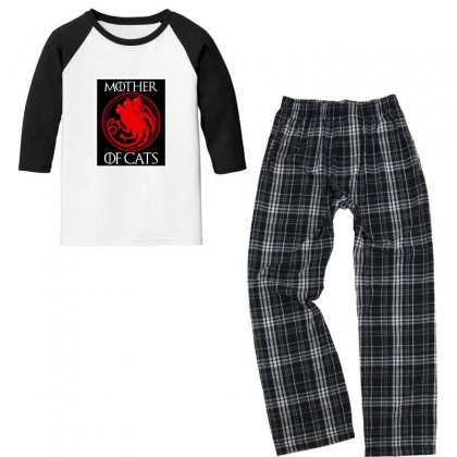 The Mother Cats Youth 3/4 Sleeve Pajama Set Designed By Oktaviany