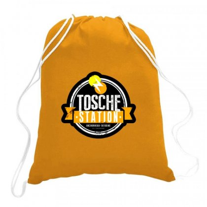 Tosche Station Merch Drawstring Bags Designed By Oktaviany