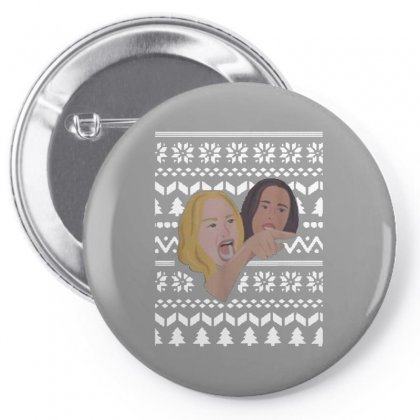 Woman Yelling At Cat Meme   Ugly Pin-back Button Designed By Oktaviany