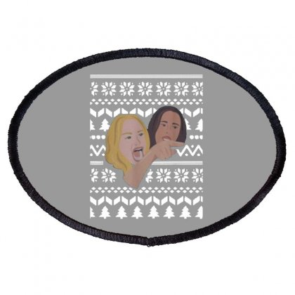 Woman Yelling At Cat Meme   Ugly Oval Patch Designed By Oktaviany