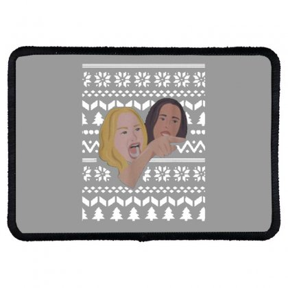 Woman Yelling At Cat Meme   Ugly Rectangle Patch Designed By Oktaviany