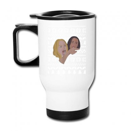 Woman Yelling At Cat Meme   Ugly Travel Mug Designed By Oktaviany