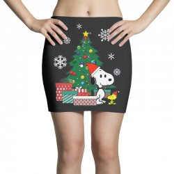 Christmas snoopy with woodstock Mini Skirts | Artistshot