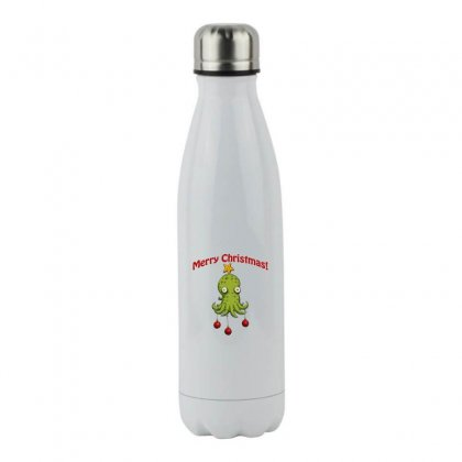 Christmas Cephalopod Stainless Steel Water Bottle Designed By Oktaviany