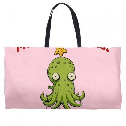 Christmas Cephalopod Weekender Totes Designed By Oktaviany