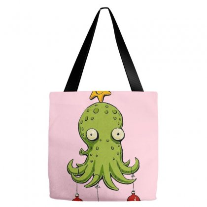 Christmas Cephalopod Tote Bags Designed By Oktaviany