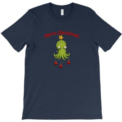 Christmas Cephalopod T-shirt Designed By Oktaviany