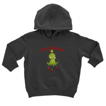 Christmas Cephalopod Toddler Hoodie Designed By Oktaviany