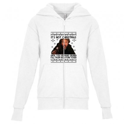 Die Hard Its Not Christmas Youth Zipper Hoodie Designed By Oktaviany