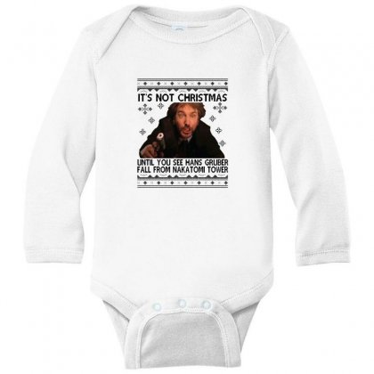 Die Hard Its Not Christmas Long Sleeve Baby Bodysuit Designed By Oktaviany