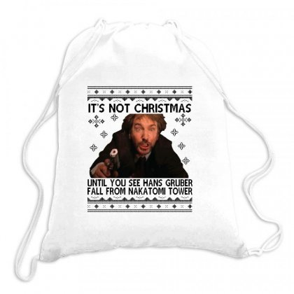 Die Hard Its Not Christmas Drawstring Bags Designed By Oktaviany