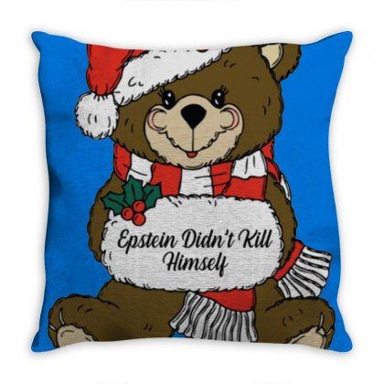 Epstein Didn't Kill Himself Christmas Throw Pillow Designed By Oktaviany