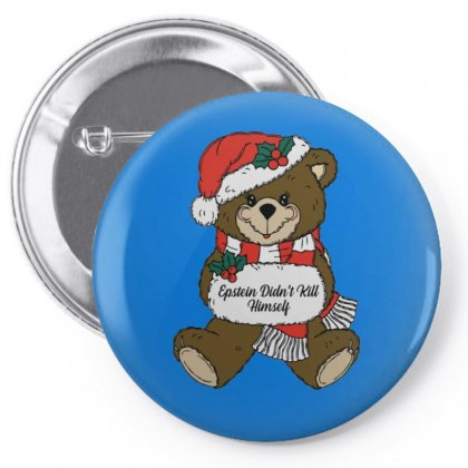 Epstein Didn't Kill Himself Christmas Pin-back Button Designed By Oktaviany