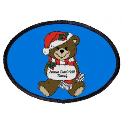 Epstein Didn't Kill Himself Christmas Oval Patch Designed By Oktaviany