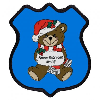 Epstein Didn't Kill Himself Christmas Shield Patch Designed By Oktaviany