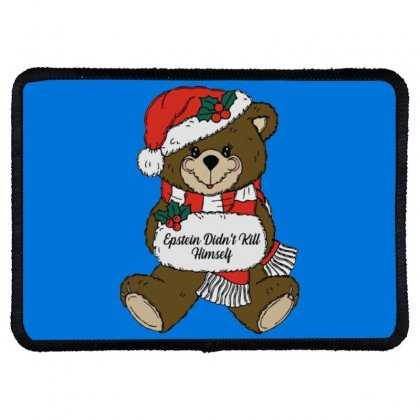 Epstein Didn't Kill Himself Christmas Rectangle Patch Designed By Oktaviany