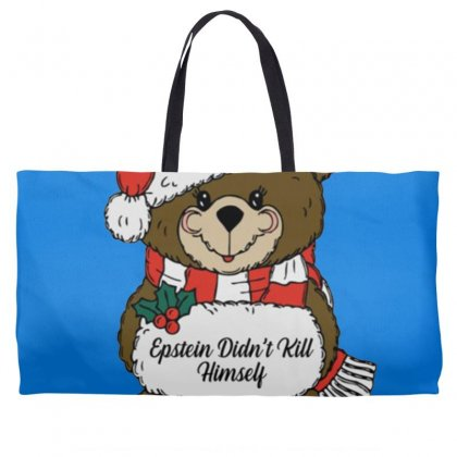 Epstein Didn't Kill Himself Christmas Weekender Totes Designed By Oktaviany