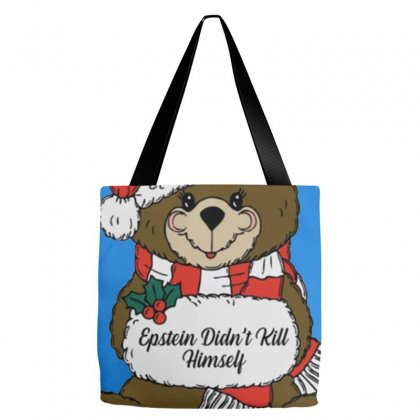 Epstein Didn't Kill Himself Christmas Tote Bags Designed By Oktaviany