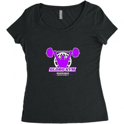 Globo Gym Costume Women's Triblend Scoop T-shirt Designed By Oktaviany
