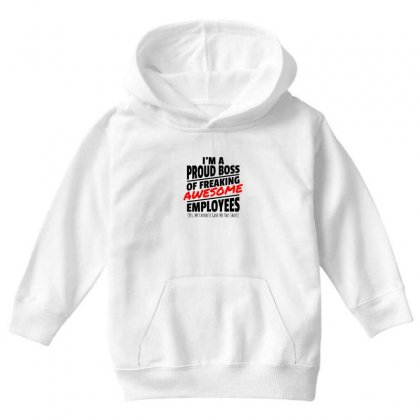 I Am A Proud Boss Youth Hoodie Designed By Oktaviany