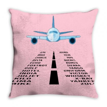 Pilot Phonetic Alphabet Merch Throw Pillow Designed By Oktaviany