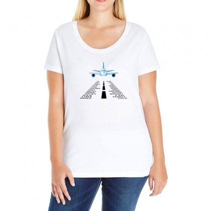 Pilot Phonetic Alphabet Merch Ladies Curvy T-shirt Designed By Oktaviany