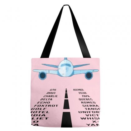 Pilot Phonetic Alphabet Merch Tote Bags Designed By Oktaviany