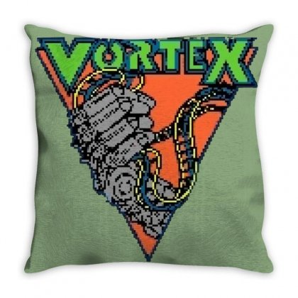 Vortex Logo Kings Island Throw Pillow Designed By Oktaviany