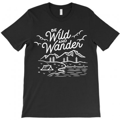 Be Wild And Wander   White Art T-shirt Designed By Batikmadrim Art
