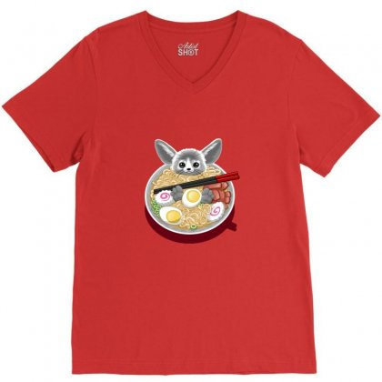Ramen Mouse V-neck Tee Designed By Arsa