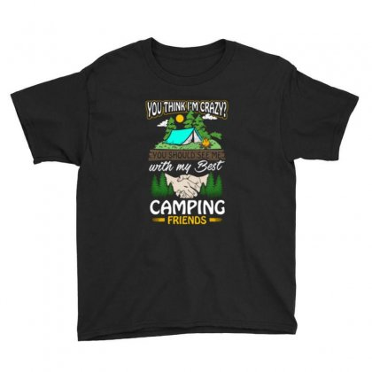 Crazy Best Camping Friends Youth Tee