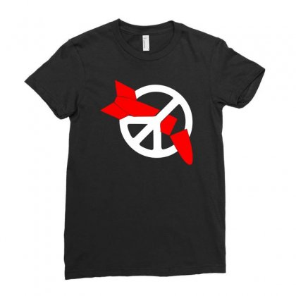 Nuclear Disarmament Ani Bombs War Peace Ladies Fitted T-shirt Designed By Warief77