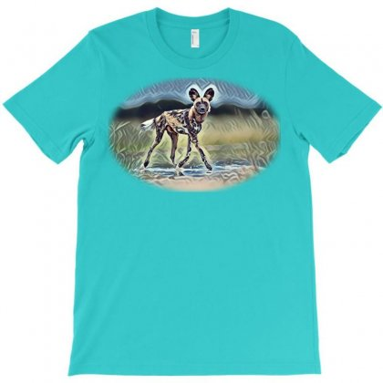 African Wild Dog, Lycaon Picton The Road. Hun T-shirt Designed By Kemnabi