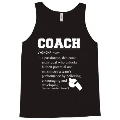 Coach Definition Tshirt Funny Coach 01 Tank Top Designed By Fanshirt