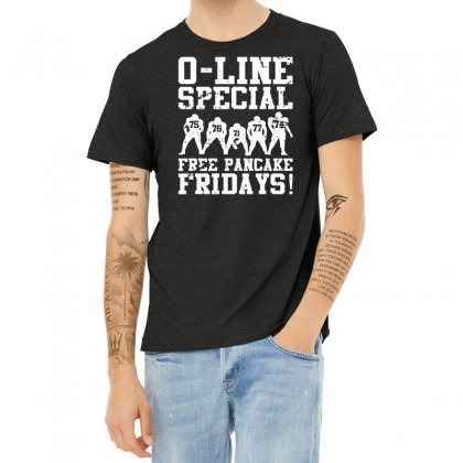 Funny Offensive Line Free Pancakes Served Football Lineman 01 Heather T-shirt Designed By Fanshirt