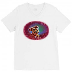 American Staffordshire Terrie V-Neck Tee | Artistshot