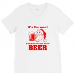 it's the most wonderful time for a beer V-Neck Tee | Artistshot