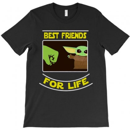 Best Friends For Life Baby Yoda T-shirt Designed By Rosdiana Tees