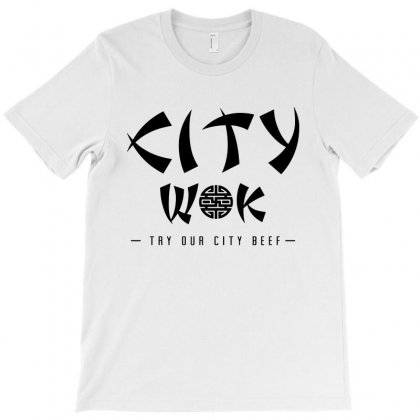City Wok On Black T-shirt Designed By Rosdiana Tees
